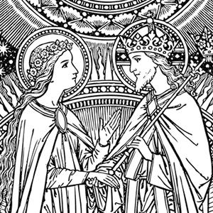 Catholic Line Art Black And White Installment 55