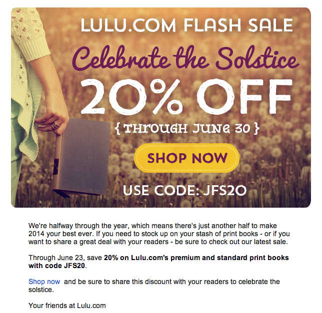 Lulu.com coupon code