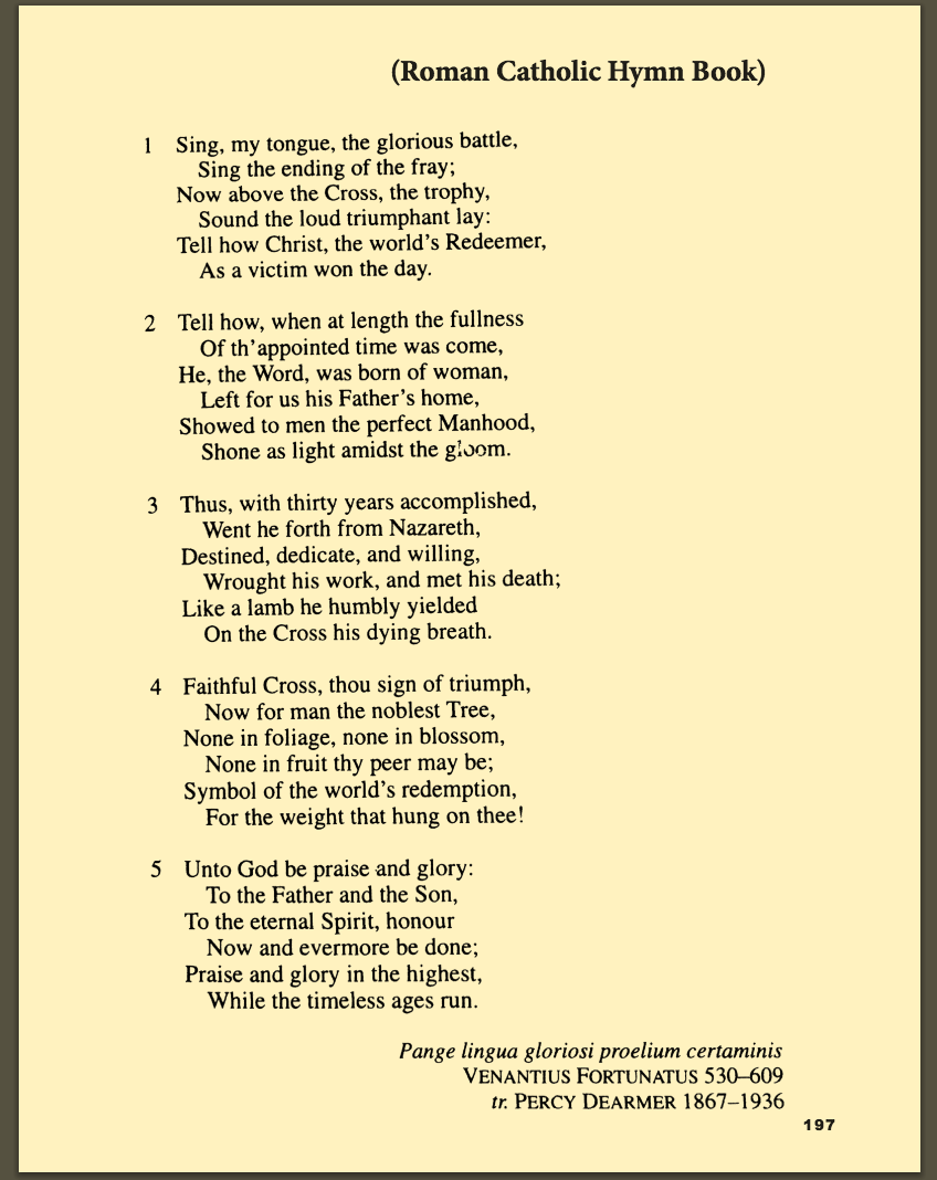 Translations By Non-Catholics In A Catholic Hymnal?