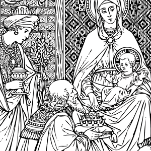 Catholic Line Art Black And White Installment 48