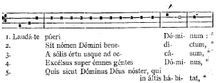 Solesmes Psalmi in Notis (FRAGMENT)