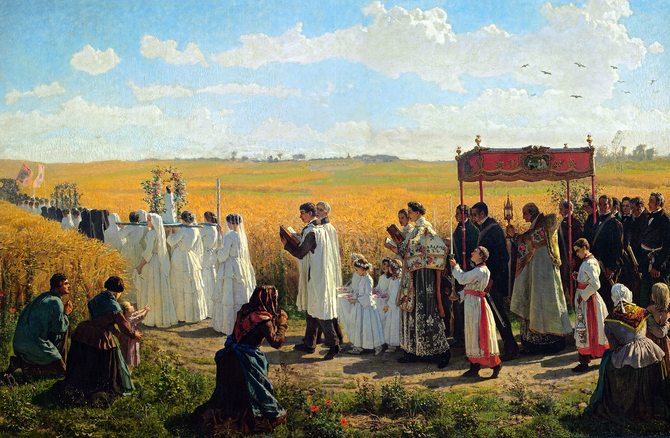 268 The blessing of the wheat fields in Artois (1857)