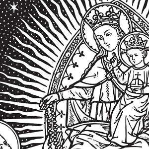 Catholic Line Art Black And White Installment 36