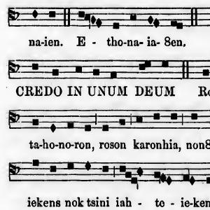 """Missa de Angelis"""" • But in Iroquoian! (1865)"""