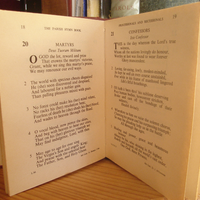 inside living parish hymn book