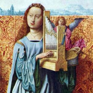 St Cecilia with portative organ